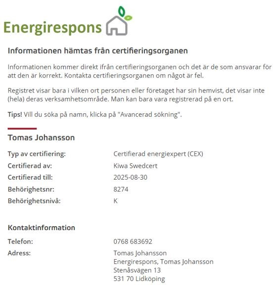 Energiexpert, CEX